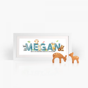personalised frame forest animals