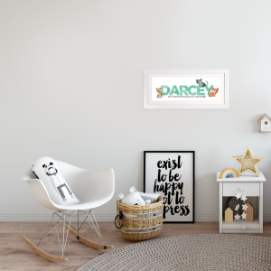 mint baby cats frame